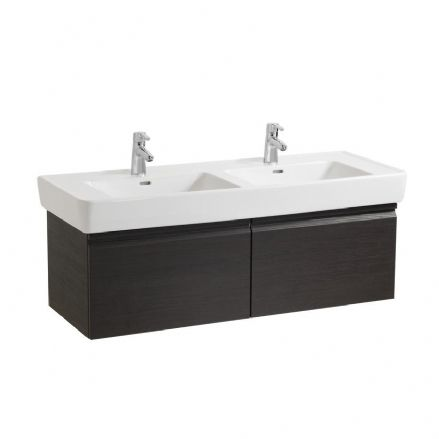 814967 - Laufen Pro 1300mm x 480mm Double Washbasin & Vanity Unit with Internal Drawers - 8.1496.7